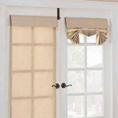 26 in. W x 68 in. L Key Largo Polyester French Door Window Panel in Oatmeal