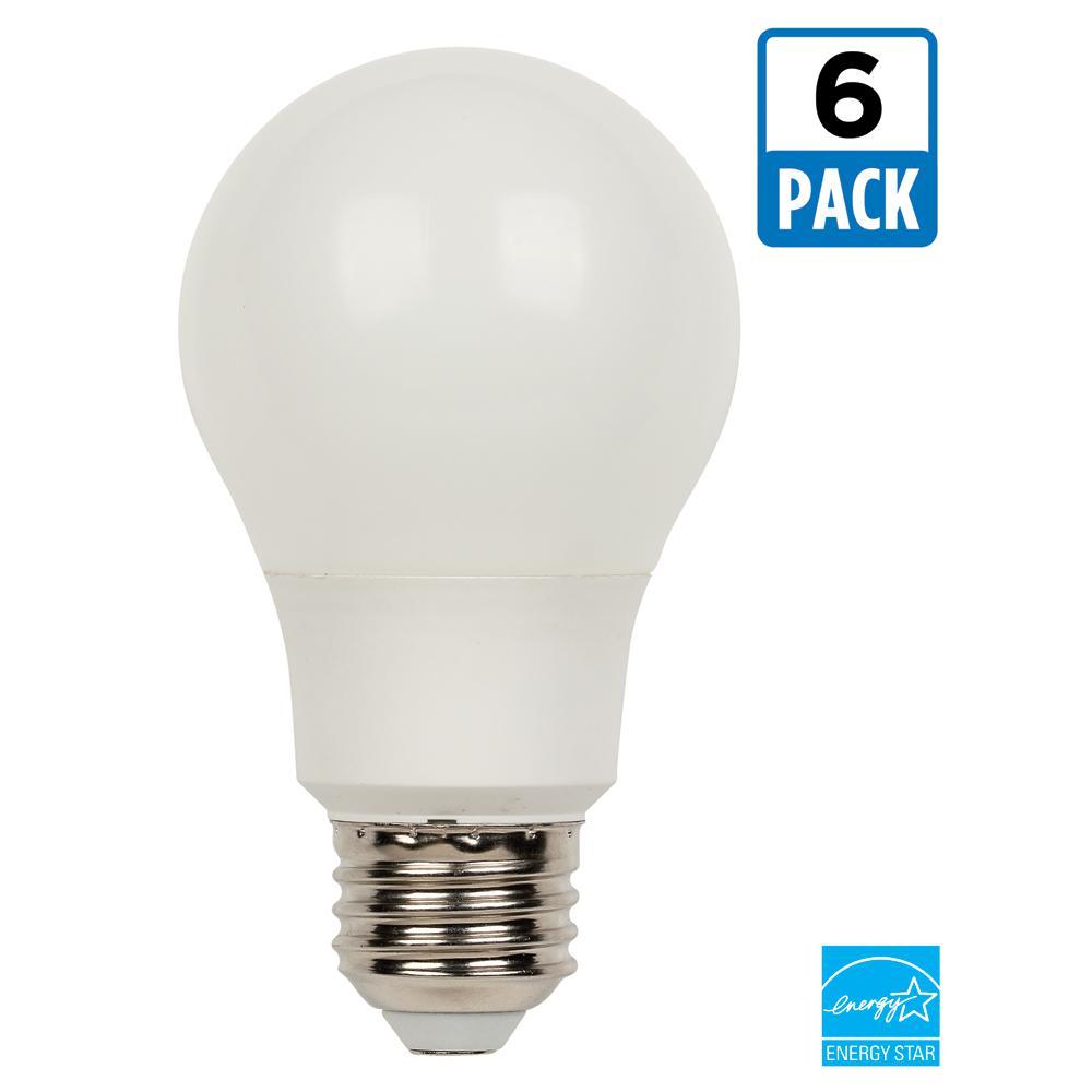 60W Equivalent Bright White Omni A19 LED Light Bulb (6-Pack)