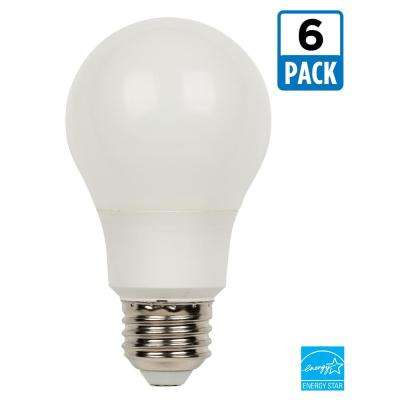 60W Equivalent Bright White Omni A19 LED Light Bulb (6-Pack)
