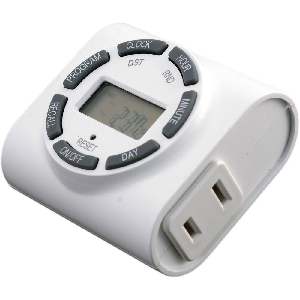 Light Timer Home Depot: GE 7-Day Indoor Programmable Plug-In Digital Timer-15089