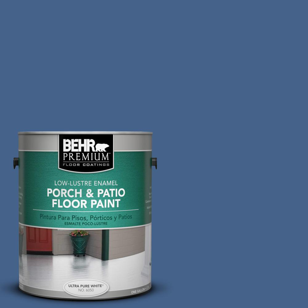 1 gal. #PPU15-04 Mosaic Blue Low-Lustre Porch and Patio Floor Paint