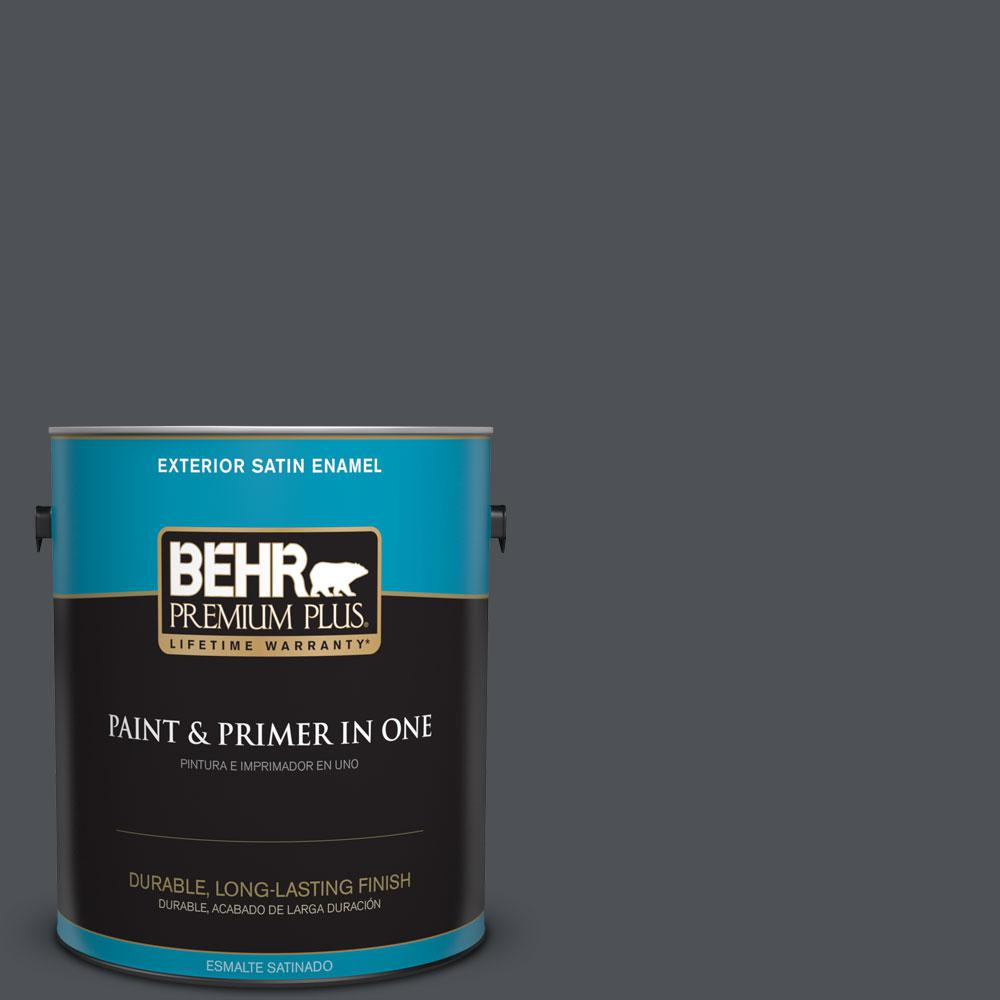 1 gal. #HDC-WR15-4 Lump Of Coal Satin Enamel Exterior Paint