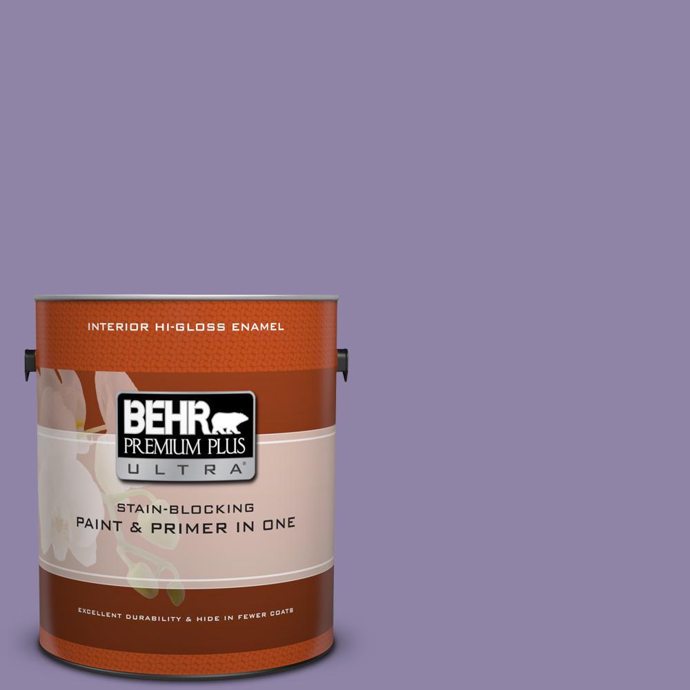 1 gal. #650D-5 Fabulous Grape Hi-Gloss Enamel Interior Paint