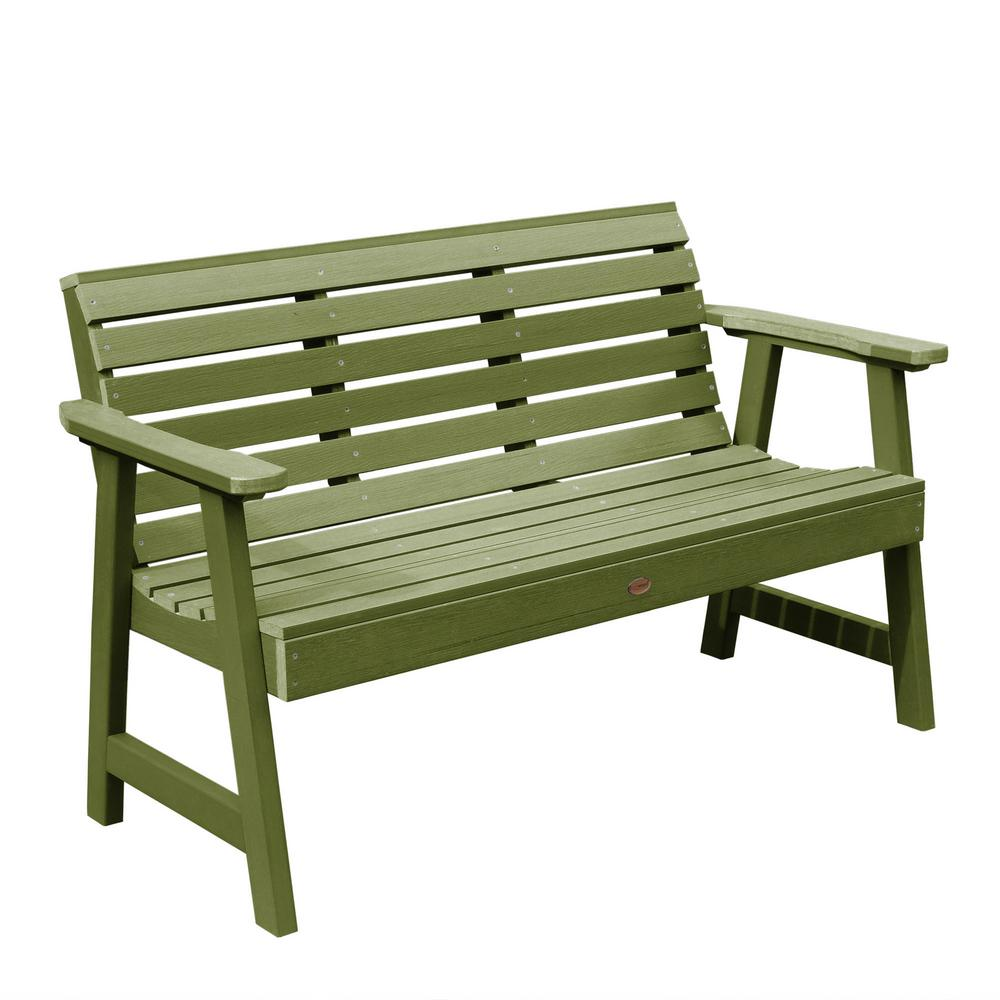 Highwood Weatherly 48 in. 2-Person Dried Sage Recycled Plastic Outdoor Garden Bench