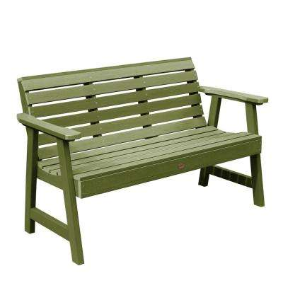 Weatherly 48 in. 2-Person Dried Sage Recycled Plastic Outdoor Garden Bench