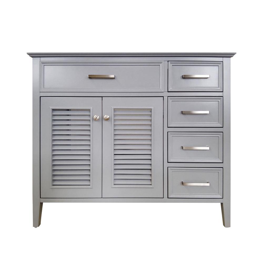 Kensington 42 in. Bath Vanity Cabinet Only in Grey