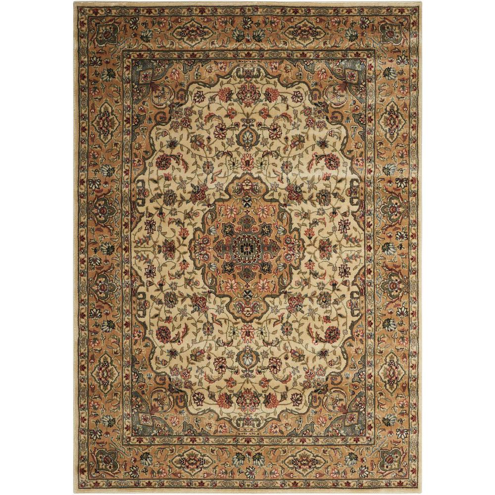 Persian Arts Ivory/Gold 7 ft. 9 in. x 10 ft. 10
