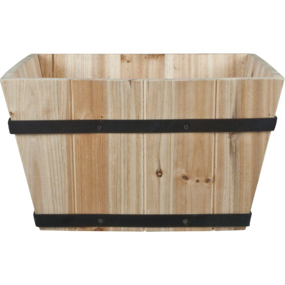 14 in. Wood Square Patio Planter