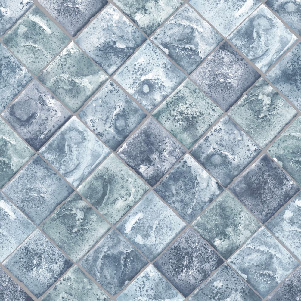Strata Lagoon Blue Removable Wallpaper