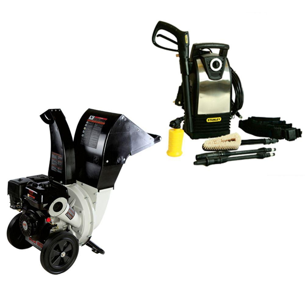 Brush Master Stanley P1600 2.25 in. Gas Chipper Electric Pressure Washer Combo Kit-DISCONTINUED