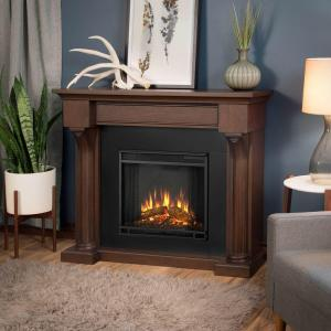 Real Flame Verona 48 inch Electric Fireplace in Chestnut Oak by Real Flame
