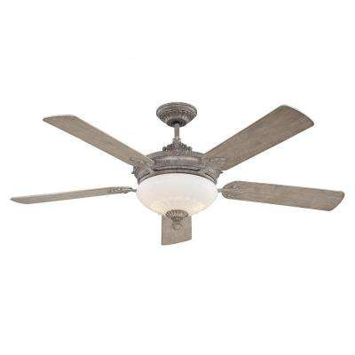 Tartan 52 in. Aged Wood Indoor Ceiling Fan