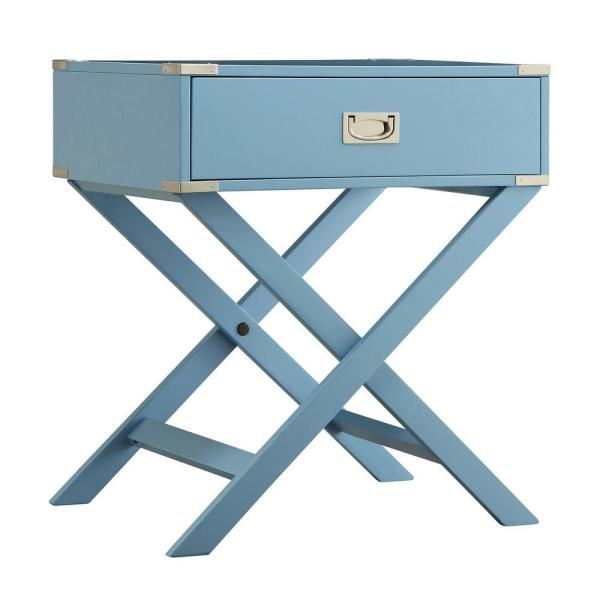Wenderson 1-Drawer Heritage Blue Nightstand