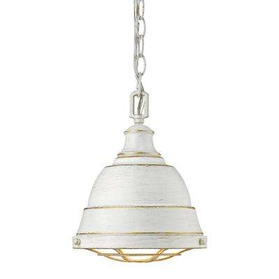 Bartlett 1-Light French White Pendant