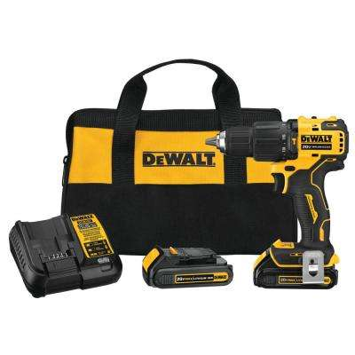 ATOMIC 20-Volt MAX Lithium-Ion Cordless Brushless 1/2 in. Compact Hammer Drill Kit
