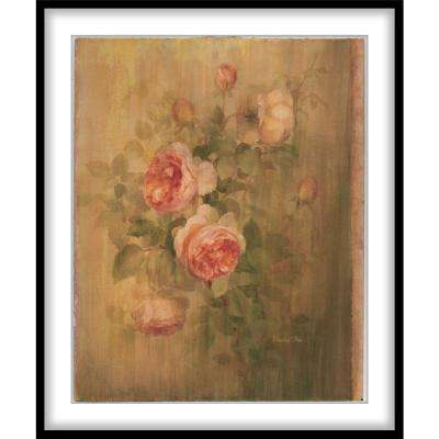 """9.75 in. x11.75 in. """"Vintage Roses on Green I""""Framed Wall Art"""