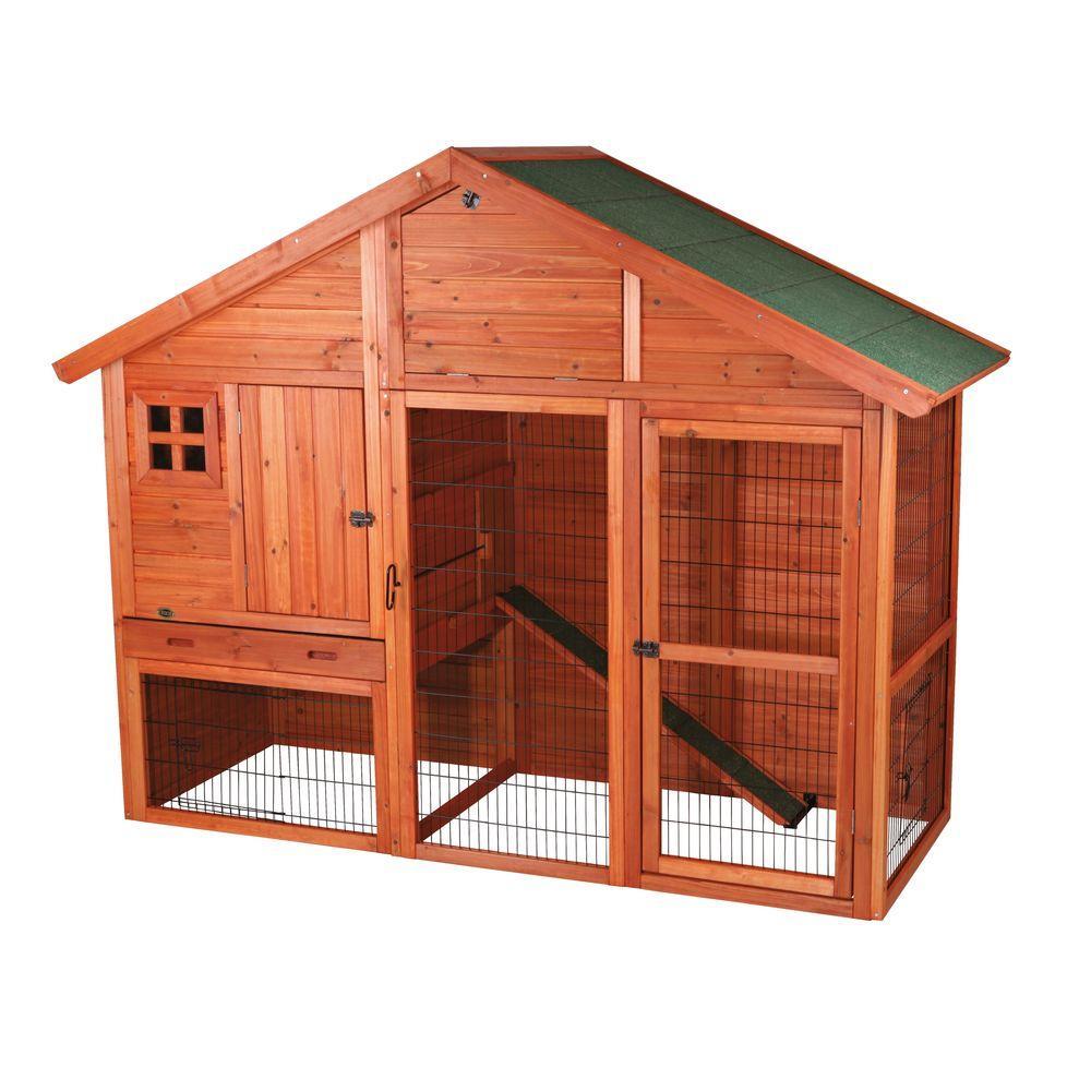 Trixie 6.4 ft. x 2.6 ft. x 5 ft. Rabbit Enclosure with Ga...