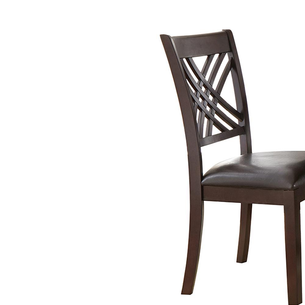 Groovy Steve Silver Company Adrian Espresso Side Chairs Set Of 2 Machost Co Dining Chair Design Ideas Machostcouk