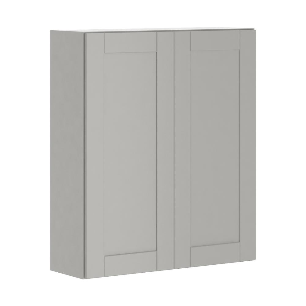 Princeton Shaker Assembled 36x42x12 in. Wall Cabinet in Warm Gray