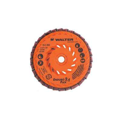 ENDURO-FLEX 2-in-1 4.5 in. x 5/8-11 in. Arbor Surface Finishing Discs (Pack of 10)