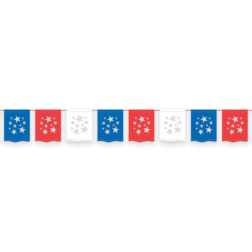 AMSCAN 12 in. x 12 ft. American Summer Flag Banner (3-Pack)