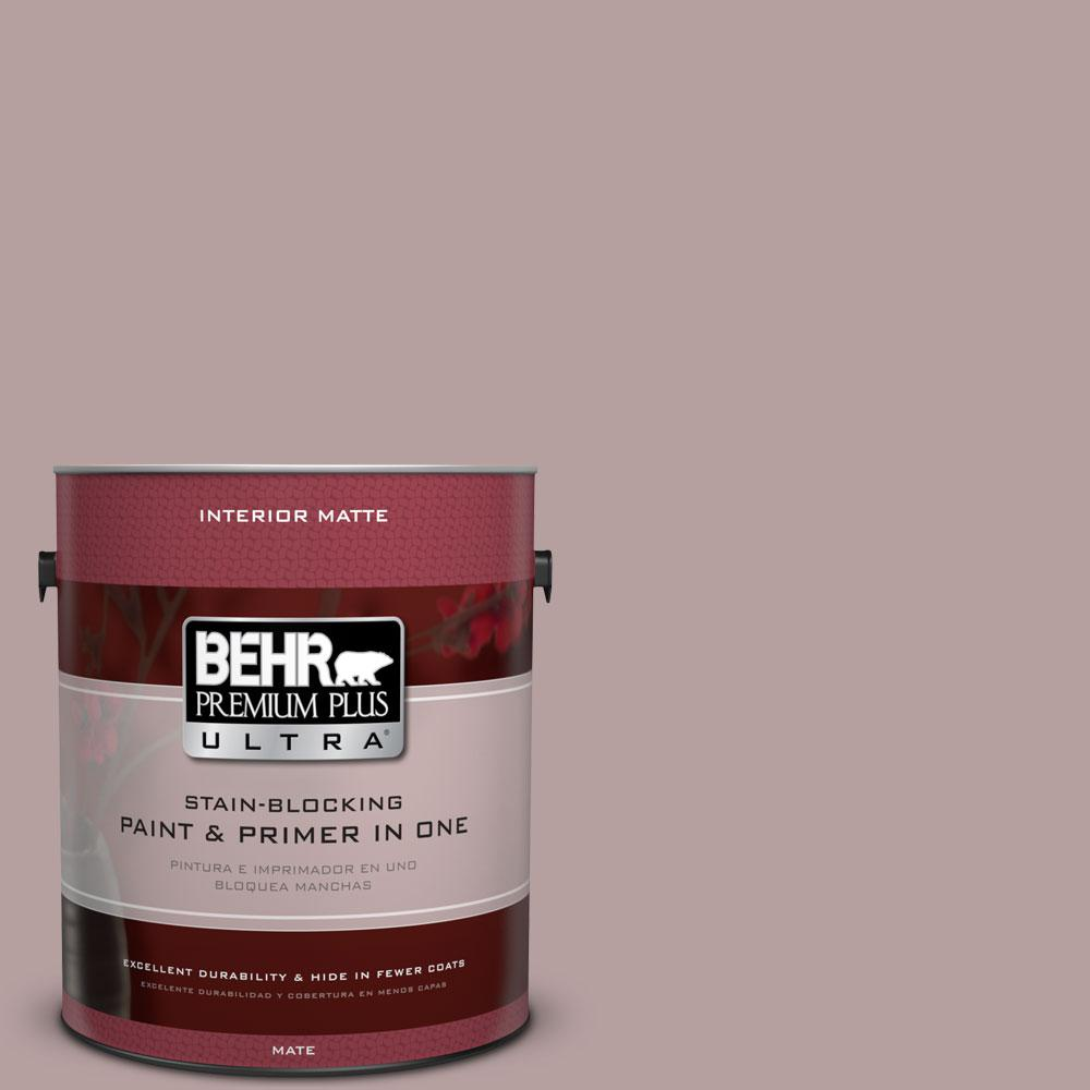 1 gal. #N130-4 Plum Taupe Matte Interior Paint