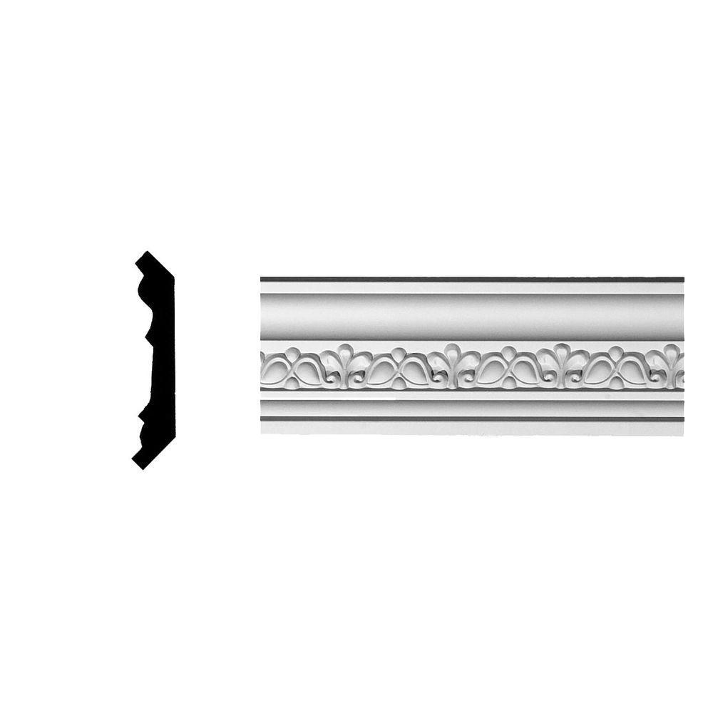 3-1/8 in. x 2-3/4 in. x 94-5/8 in. Polyurethane Nexus Crown Moulding