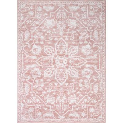 Dazzle Disa Blush Vintage Distressed Medallion Oriental 7 ft. 3 in. x 9 in. 3 in. Area Rug