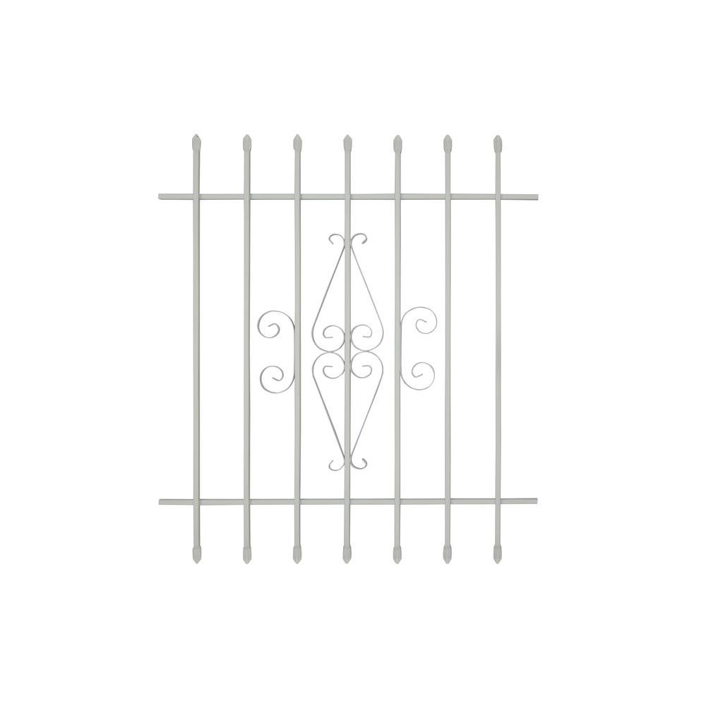 36 in. x 42 in. Spear Point 7-Bar Security Bar Window
