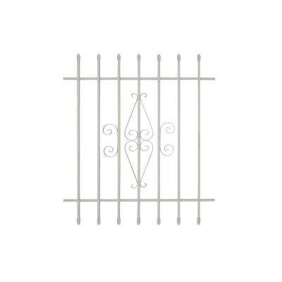 36 in. x 42 in. Spear Point 7-Bar Security Bar Window Guard, White