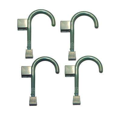 4 Universal Hooks in Bistro Green