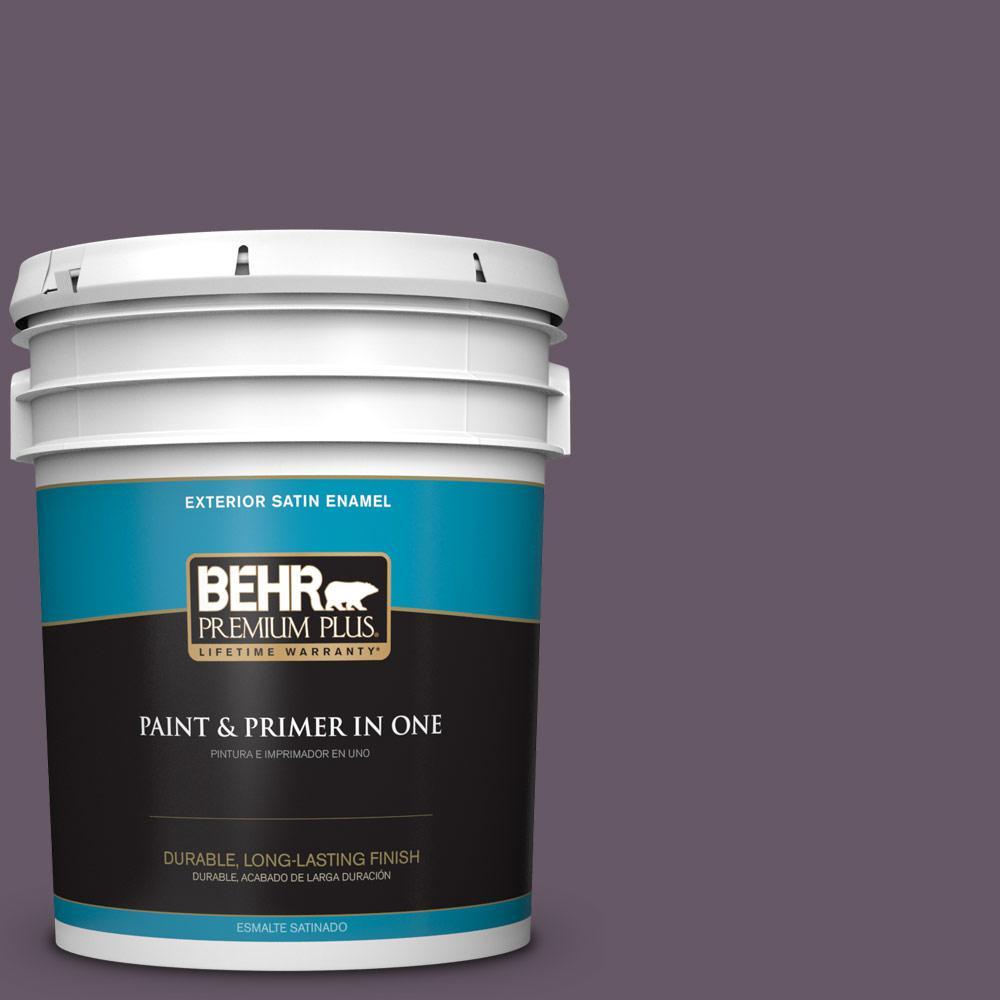 5 gal. #PPU17-05 Preservation Plum Satin Enamel Exterior Paint