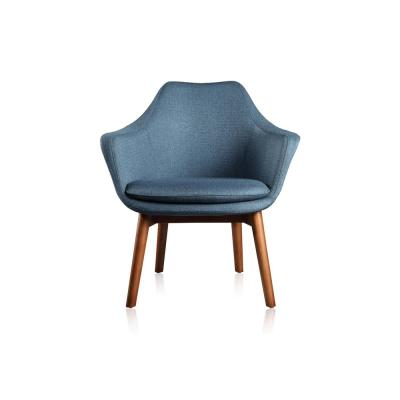 Cronkite Blue Accent Chair with Ash Wood Legs