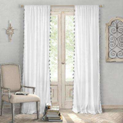 Bianca Semi-Sheer Window Curtain with Tassels