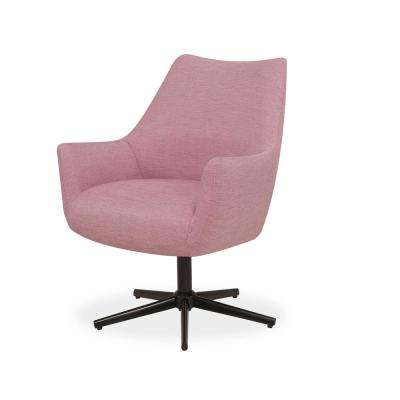 Gunnison Swivel Arm Chair in Lavender Textured Weave