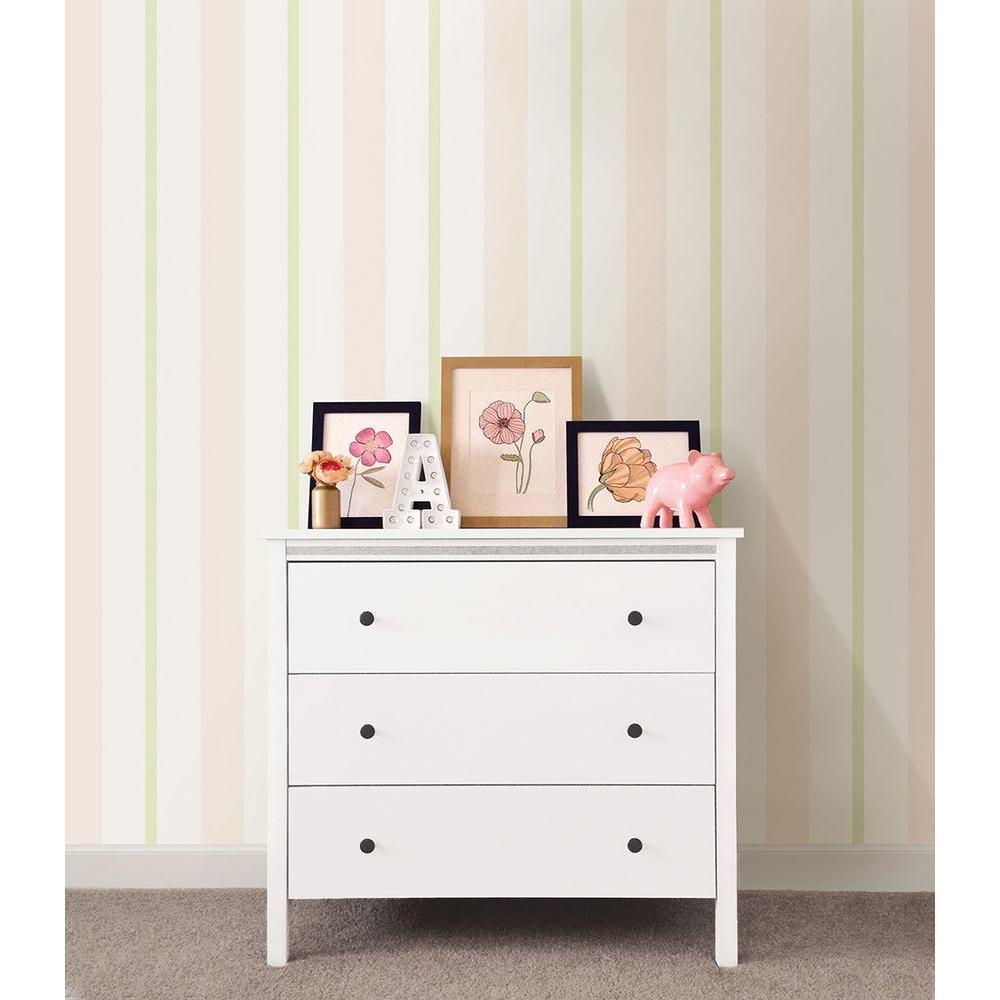 Pink Sunshine Stripe Wallpaper Sample