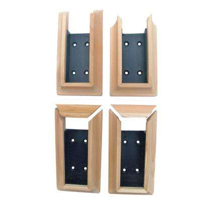 Real Cedar Stair Deck Rail Connector (4-Pack)