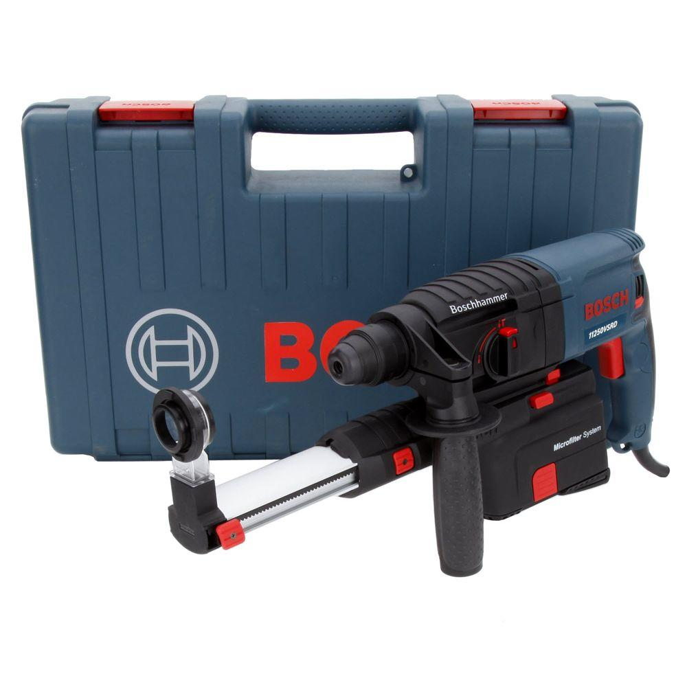 Bosch 6.1 Amp 3/4 in. Corded SDS-Plus Dustless Rotary Hammer