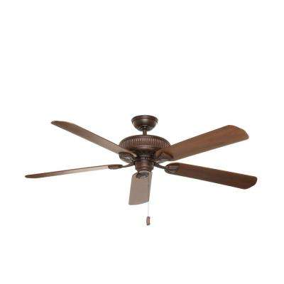 Ainsworth 60 in. Indoor Brushed Cocoa Bronze Ceiling Fan with Light
