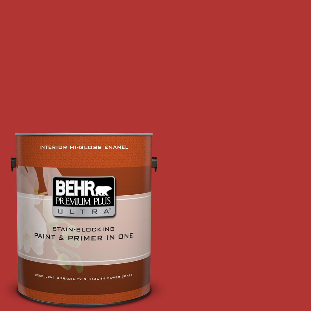 1 gal. #170B-7 Red Tomato Hi-Gloss Enamel Interior Paint