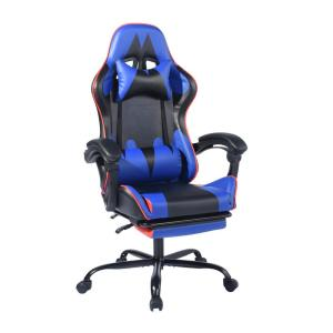 Deals on FurnitureR Itools Blue Lumber Footrest Gaming Chair Recliner