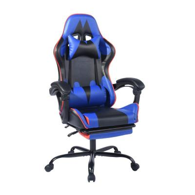 Itools Blue Lumber Footrest Gaming Chair Recliner