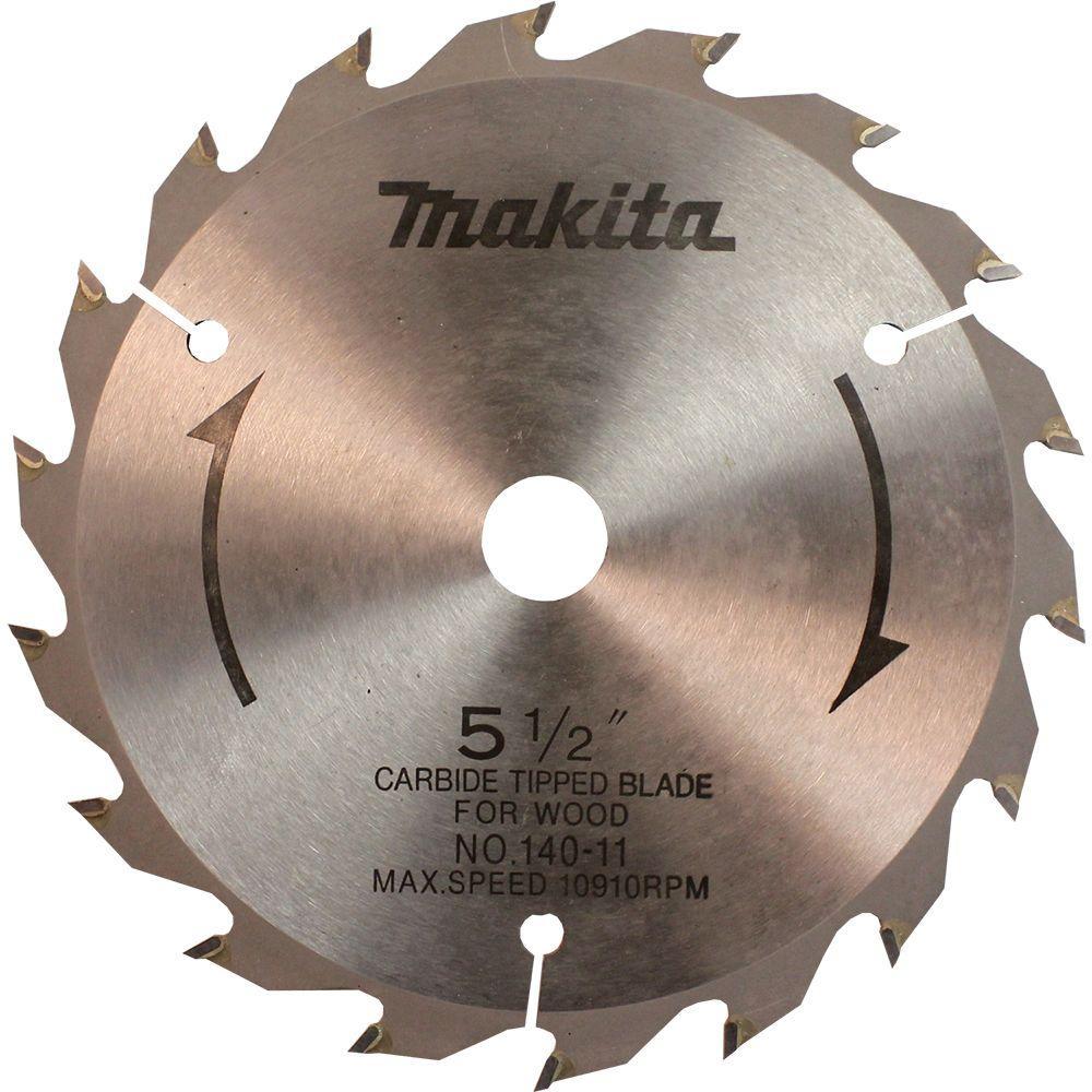 5-1/2 in. 18-Teeth Carbide-Tipped Circular Saw Blade