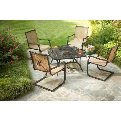 Solana Bay 5-Piece Patio Fire Pit Set