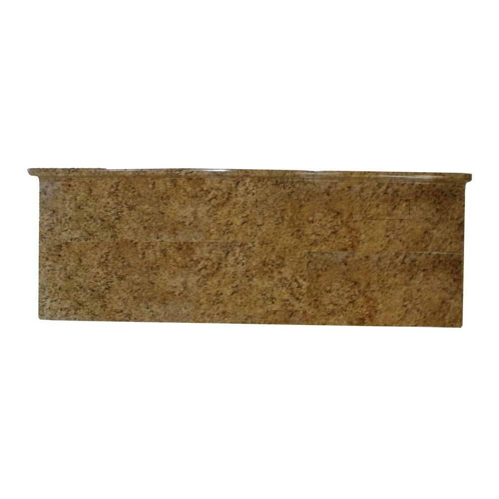 Metalarte 4 Ft Granito Fossil Laminated Countertop 20015 The Home Depot