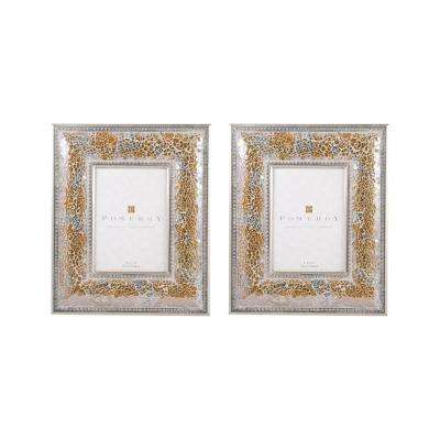 1-Opening 5 in. x 7 in. Roxbury Gilded Shimmer Picture Frames 2-Pack