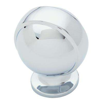 Global Retro 1-1/4 in. (32mm) Polished Chrome Round Cabinet Knob