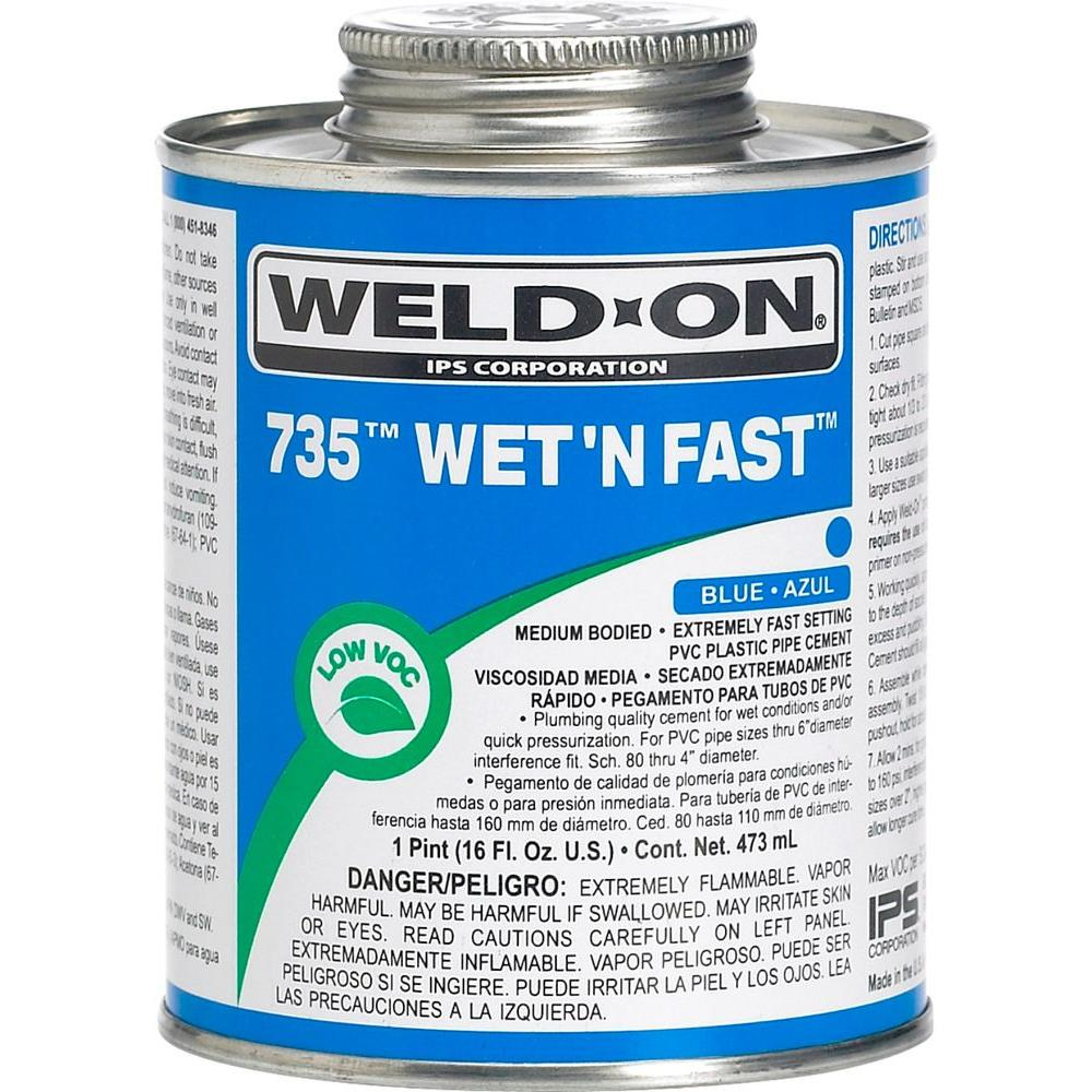 16 oz. PVC 735 Wet N Fast Cement in Blue