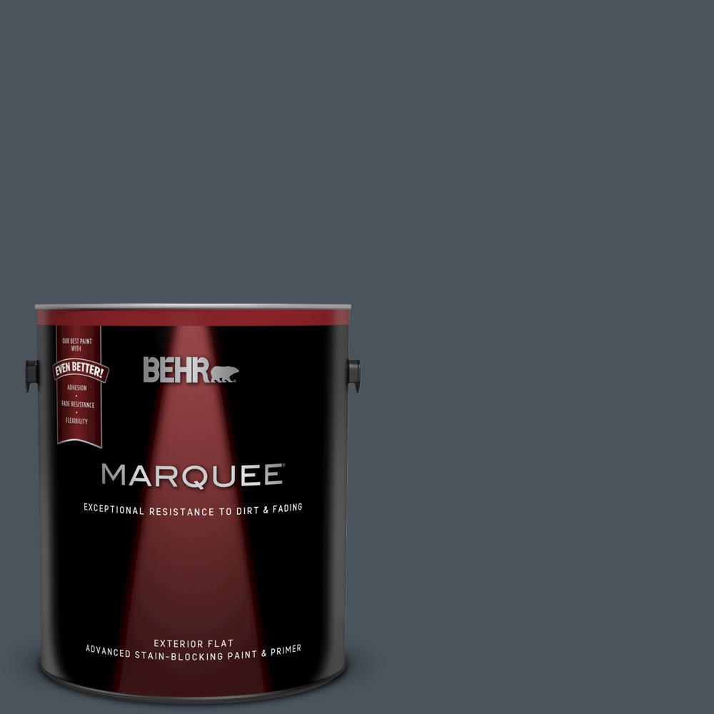 Behr Marquee 1 Gal N480 7 Midnight Blue Flat Exterior