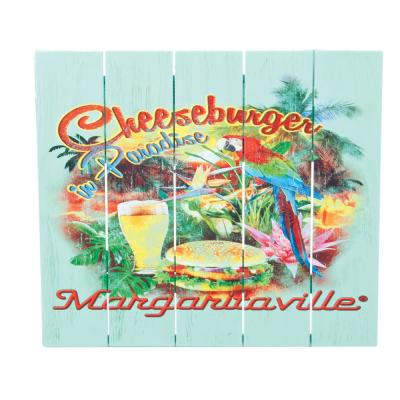 Cheeseburger in Paradise Outdoor Wall Art Sign